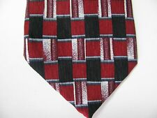 Vtg Mens Silk Tie Neckwear Neck Cocktail Collection Tequila Red Black Geometric