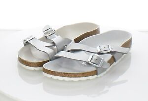 12-57 $100 Women's Sz 8 N Birkenstock Yao Birko-Flor Hard Footbed Sandals