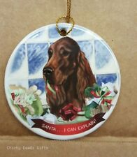 Pet Gifts Usa Irish Setter Christmas Ornament I Can Explain