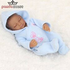 """10""""African American Baby Doll Black Full Vinyl  Reborn Babies Handmade Real Look"""