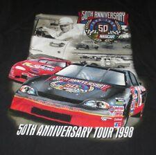 1998 50th ANNIVERSARY NASCAR TOUR (LG) T-Shirt DALE EARNHARDT - RICHARD PETTY