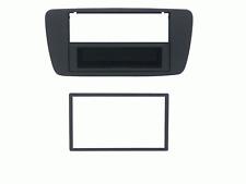 Mascherina con foro ISO/Doppio DIN colore grigio chiaro Seat Ibiza 08>12