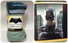 DC COMICS BATMAN VS SUPERMAN PLAID IN PILE MANTA POLAR FLEECE BLANKET BATMAN