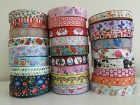 ** Printed Grosgrain Ribbon Dummy Hair Clips Cake Craft Hair Bow 1 Meter 22/25mm