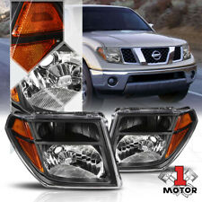 Black Housing Headlight Amber Signal Reflector for 05-08 Frontier/Pathfinder
