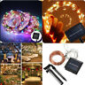 Outdoor Solar Power White 10M 33ft LED Copper Wire String Fairy Xmas Light Lamp
