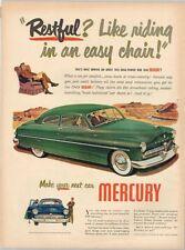 "Original 1949 Mercury ""Restful Easy Chair"" paper ad 10½ x 14 inch Tavern Trove"