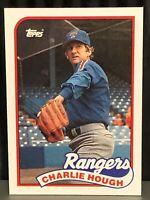 1989 Topps Charlie Hough Baseball Card Texas Rangers Mint #345 Knuckle MLB