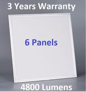 6 x 48W LED PANEL LIGHT 600X600MM COOL WHITE 6500K NEW LIGHTS LEDs WITH DRIVER