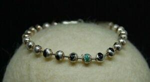Sterling Silver Unisex Bracelet W Black Onyx inlaid, Adjustable, Custom Made