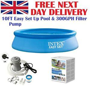 Intex 28120 10FT Easy Set Up Swimming Pool + 300GPH Pump + All You Need UK Stock