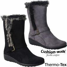 Botas de invierno señoras de la Nieve Esquí Térmico Thermo Tex cálida De Piel Mitad de Pantorrilla Botas Antideslizante