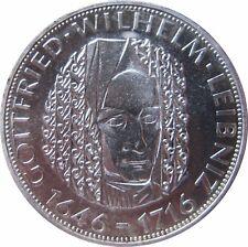J394  5 DM Gedenkmünze Gottfried Wilhelm Leibnitz von 1966 G in PP
