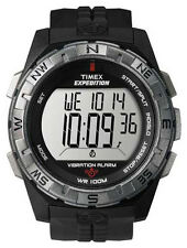 Timex Men's T49851 Expedition Rugged Digital Vibration Alarm Black Resin Strap W