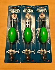 """Precision Tackle Cajun Thunder Fishing Green 2.5"""" Oval Float Cork Lot of 3. New."""