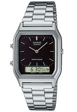 CASIO VINTAGE AQ-230A-1D SILVER STAINLESS WATCH FOR MEN AND WOMEN-COD+FREE SHIP
