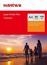Overhead Projector OHP Film Acetate Clear A4 For Laser Printer - 60 Sheets Hartw