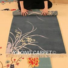 YILONG 3'x4.7' Small Hand Woven Wool Carpet Chinese Art Deco Home Decor Area Rug
