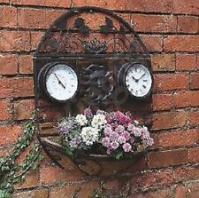 New Decorative Garden Plant Basket Thermometer Hanging Traditional Clock Wall