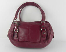 Borsa borsetta in pelle amaranto borsa vintage fashion victim dress code