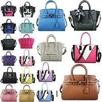 Miss Lulu Handbag BAG With Skull Scarf Black White Blue Pink Purple Faux Leather