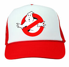 GHOSTBUSTERS HAT Halloween Costume RED Trucker Cap Adjustable Funny 80s Group
