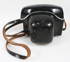 VINTAGE KODAK BLACK LEATHER CASE WITH STRAP FOR INSTAMATIC REFLEX