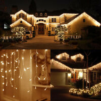 Warm White 3M~30M 96-960 LED String Lights Icicle Snowing Curtain Fairy Xmas