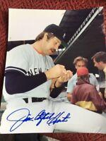 Beautifully  Signed Autographed 8X10 Photo HOFer JIM CATFISH HUNTER