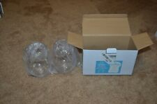 2 piece unbreakable stemless wine glasses