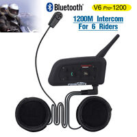 Motorcycle Helmet Intercom Bluetooth Interphone Headset BT Communication System