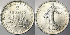 2 FRANCS 1914 FRANCIA FRANCE ARGENTO SILVER #3014