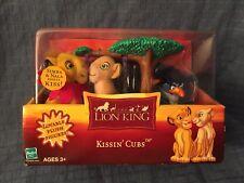 2002 Hasbro The Lion King Kissin' Cubs Plush Figures Playset