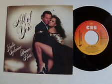 """JULIO IGLESIAS & DIANA ROSS : All of you / The last time 7"""" 45T 1984 CBS A-4522"""