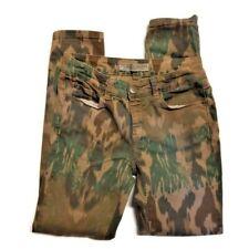 IKKS Denim Womens Skinny Jeans Pants 26 x 28.5 Ikat Camo Print Ankle Distressed
