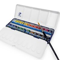 Royal Talens - Van Gogh Water Color - Metal Box of 24 Paints with Brush