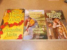 Lot of 3~Harlequin Historical Romance Books~Shielded Heart~Warriors Pass~Vikings
