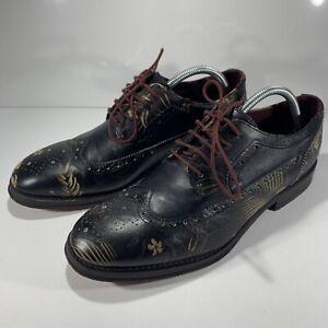 Ted Baker Mens Chorlten Brogue Multi Floral Leather Shoe UK 9