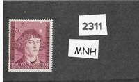 #2311   MNH stamp / Copernicus / WWII Germany / Occupied Poland / Third Reich