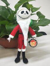 "The Nightmare Before Christmas Jack Skellington Santa Plush Doll Stuffed Toy 12"""