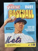 2021 MLB Topps Heritage Sealed BLASTER BOX! 72 Total Cards!!! Unopened🔥🔥🔥