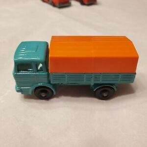 MBRW1 Matchbox Lesney 1 C Mercedes Truck/Lorry BPW Mint Green/Orange Excellent!