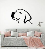 Vinyl Wall Decal Head Abstract Labrador Puppy Dog Pet Stickers (2360ig)