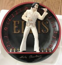 Bradford Exchange 1995- Elvis in the Spotlight Lighted Plate, On Stage in Hawaii