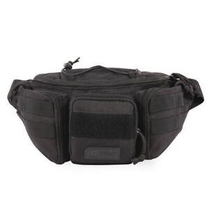 Highland Tactical Sidewinder Adjustable Waist Pack Bag Molle Webbing Black