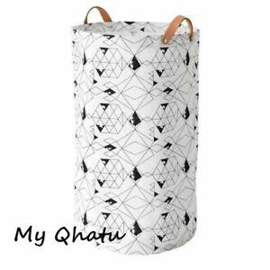 Ikea PLUMSA 16 Gallon Storage basket, white/black, bathroom, pantry NEW