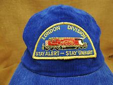 Vintage CP Rail Blue Corduroy Hat Cap London Division