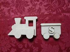 MDF Wooden Train and carriage freestanding Craft wall door hanging art