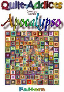 """APOCALYPSO"" Patchwork Quilt Pattern."