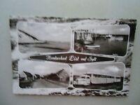 Ansichtskarte Nordseebad List auf Sylt 1961 Inselbahn Straßenzug Hafen Bucht